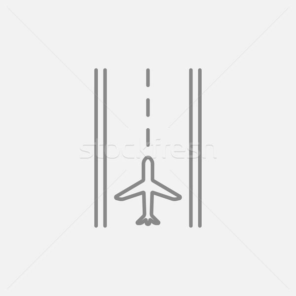 Aeropuerto pista línea icono web móviles Foto stock © RAStudio