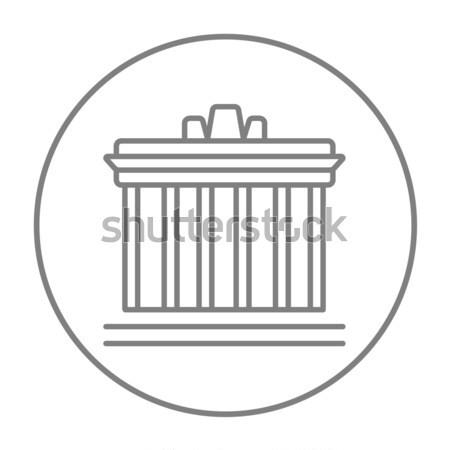 Acrópole Atenas linha ícone teia móvel Foto stock © RAStudio