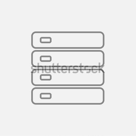 Számítógép szerver vonal ikon háló mobil Stock fotó © RAStudio