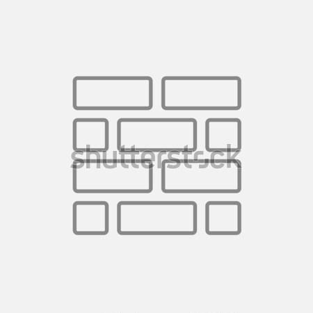 Brickwall line icon. Stock photo © RAStudio