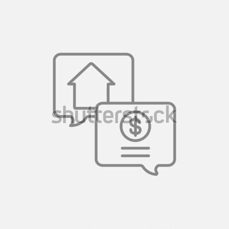 Real estate transaction line icon. Stock photo © RAStudio