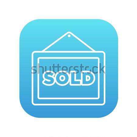Uitverkocht lijn icon web mobiele Stockfoto © RAStudio