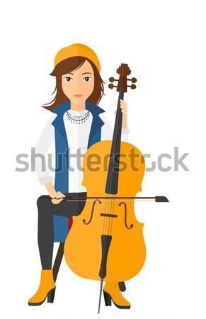 Woman playing cello. Stock photo © RAStudio