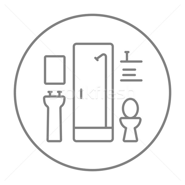 Bathroom line icon. Stock photo © RAStudio