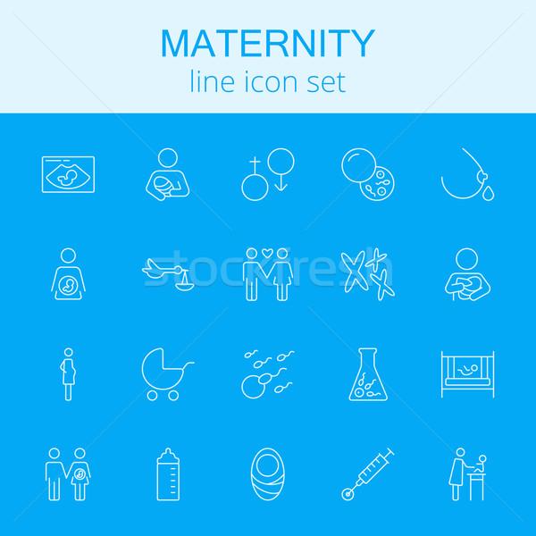 Stock photo: Maternity icon set.