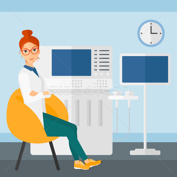 Female ultrasound specialist. Stock photo © RAStudio
