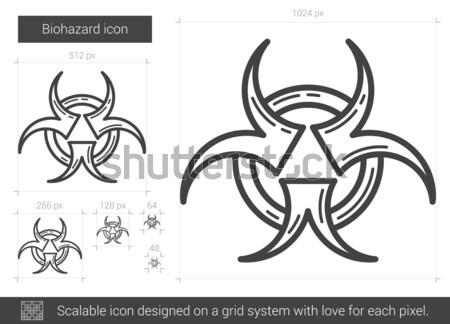 Bio peligro signo línea icono web Foto stock © RAStudio
