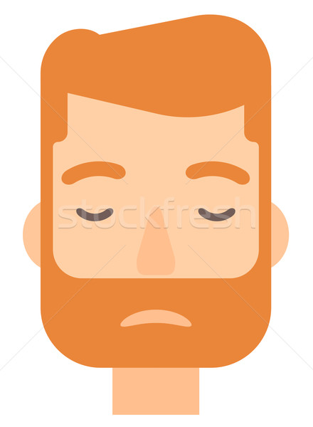 Grieving man with eyes closed. Stock photo © RAStudio