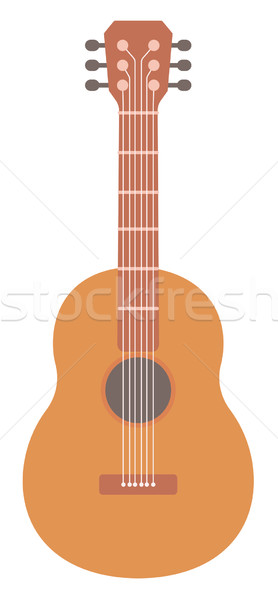 Classical acoustic guitar Stock photo © RAStudio
