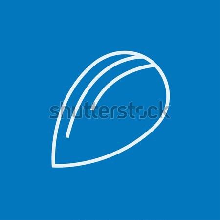 Almond line icon. Stock photo © RAStudio