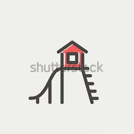 слайдов линия икона уголки веб мобильных Сток-фото © RAStudio