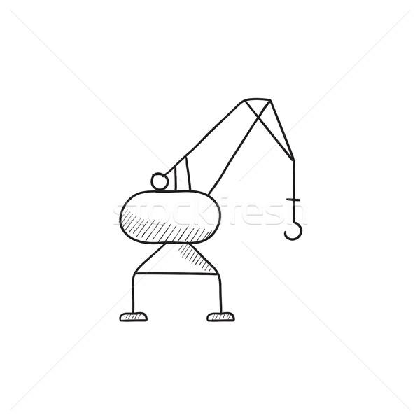 Kikötő állvány rajz ikon vektor izolált Stock fotó © RAStudio