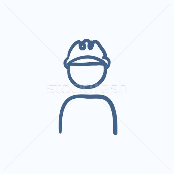 Stockfoto: Werknemer · schets · icon · vector