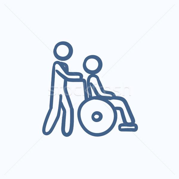 Nursing care sketch icon. Stock photo © RAStudio