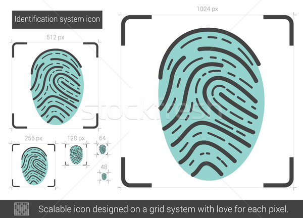 Identification system line icon. Stock photo © RAStudio