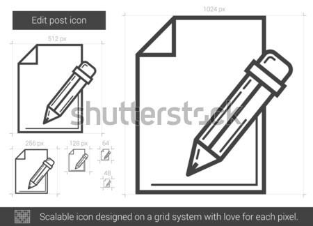 Edit post line icon. Stock photo © RAStudio