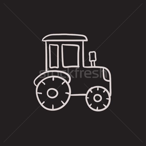 Tractor sketch icon. Stock photo © RAStudio