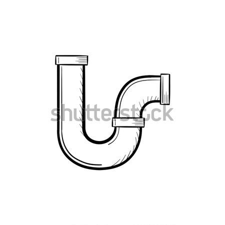 Víz csővezeték rajz ikon vektor izolált Stock fotó © RAStudio