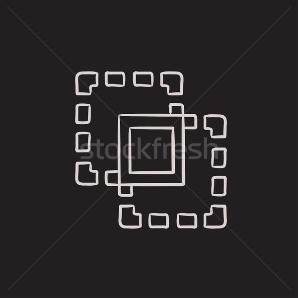 Crop sketch icon. Stock photo © RAStudio
