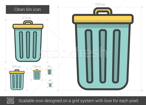 Clean bin line icon. Stock photo © RAStudio