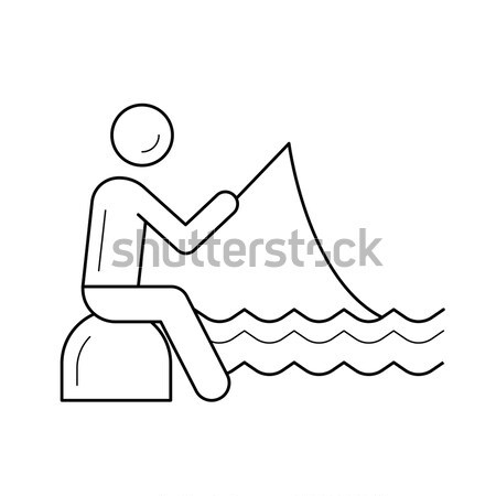 человека верховая езда байдарках молодые реке Сток-фото © RAStudio
