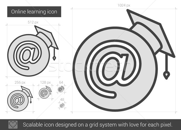 Online learning line icon. Stock photo © RAStudio