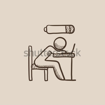 ハンター スケッチ アイコン ベクトル 孤立した 手描き ストックフォト © RAStudio