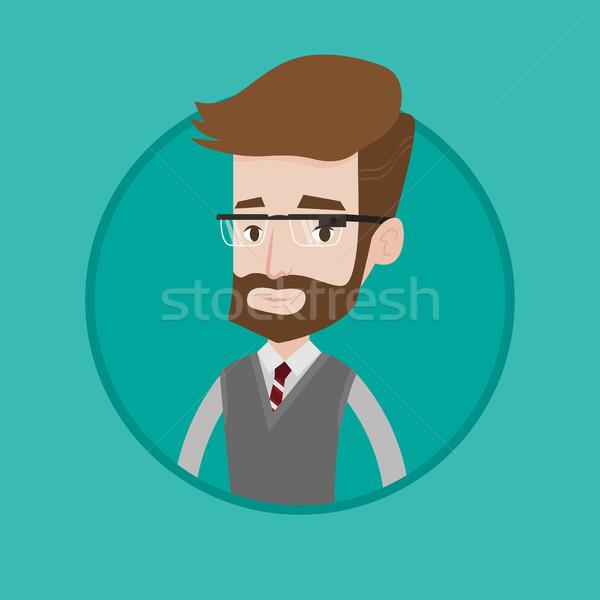 Young man wearing smart glass vector illustration. Stock photo © RAStudio