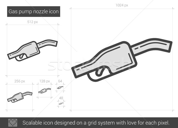 Gas pump nozzle line icon. Stock photo © RAStudio