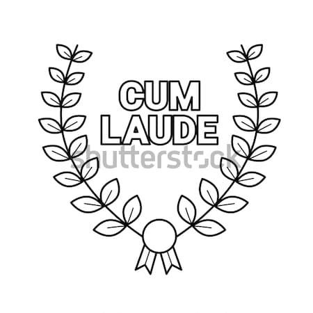 Laurel wreath line icon. Stock photo © RAStudio