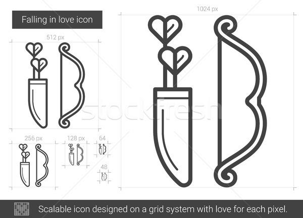 Falling in love line icon. Stock photo © RAStudio