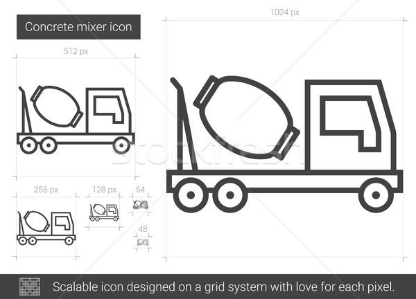 Beton mikser hat ikon vektör yalıtılmış Stok fotoğraf © RAStudio
