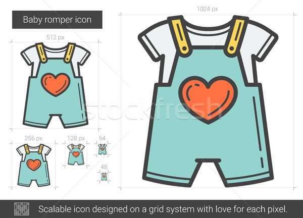 10a7b4e50a8d Baby romper line icon. vector illustration © Andrei Krauchuk ...