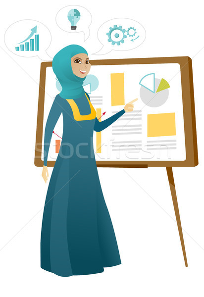 Business woman giving business presentation. Stock photo © RAStudio