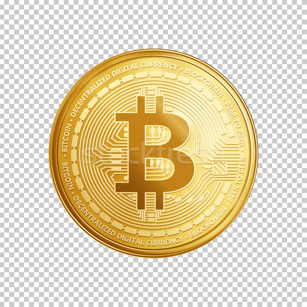 Golden bitcoin coin symbol. Stock photo © RAStudio