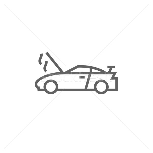 Auto rotta open line icona angoli web Foto d'archivio © RAStudio