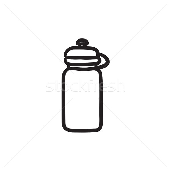 Sport water bottle sketch icon. Stock photo © RAStudio