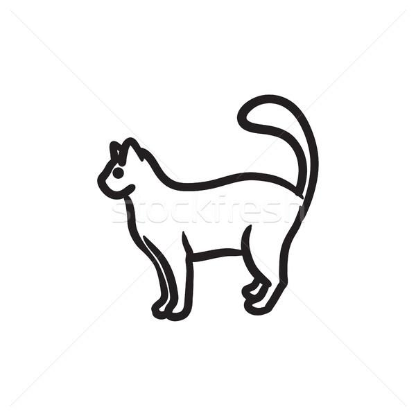 Cat sketch icon. Stock photo © RAStudio