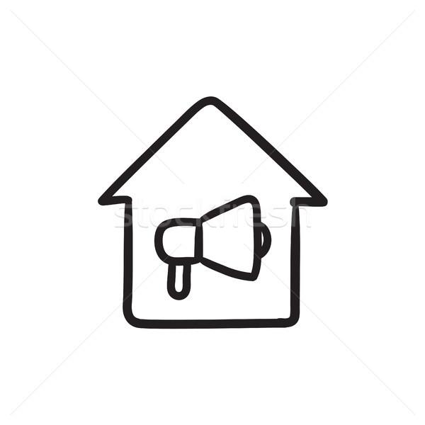 House fire alarm sketch icon. Stock photo © RAStudio