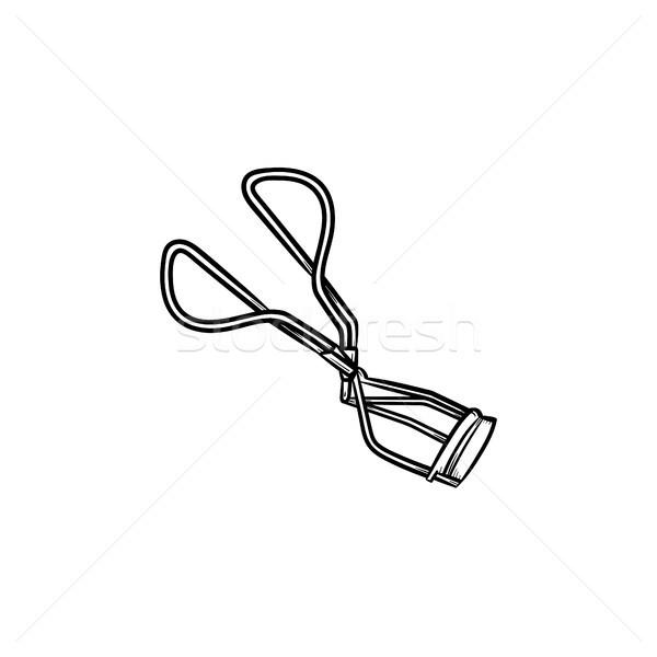 Eyelash curler hand drawn sketch icon. Stock photo © RAStudio