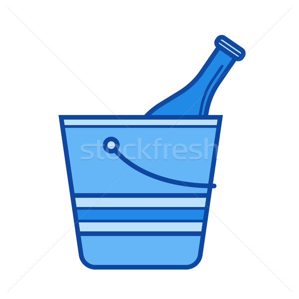 Ice bucket line icon. Stock photo © RAStudio
