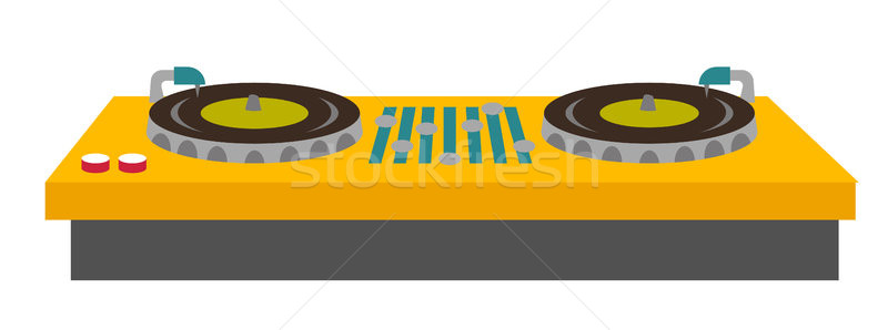 DJ turntable console mixer vector illustration. Stock photo © RAStudio