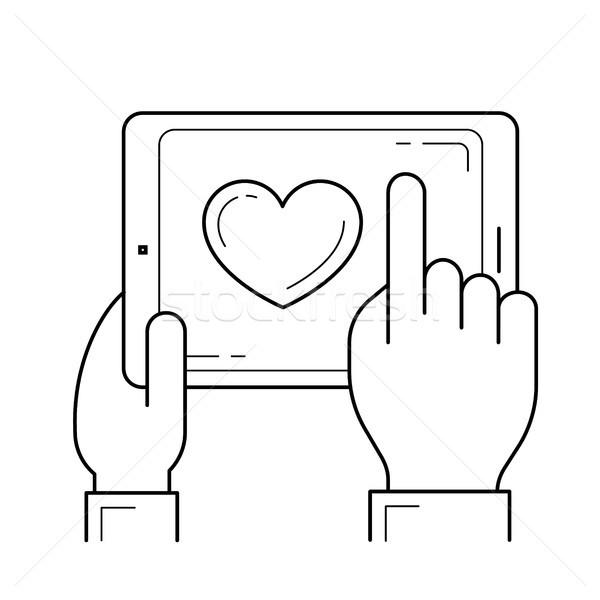 Add to favourites line icon. Stock photo © RAStudio