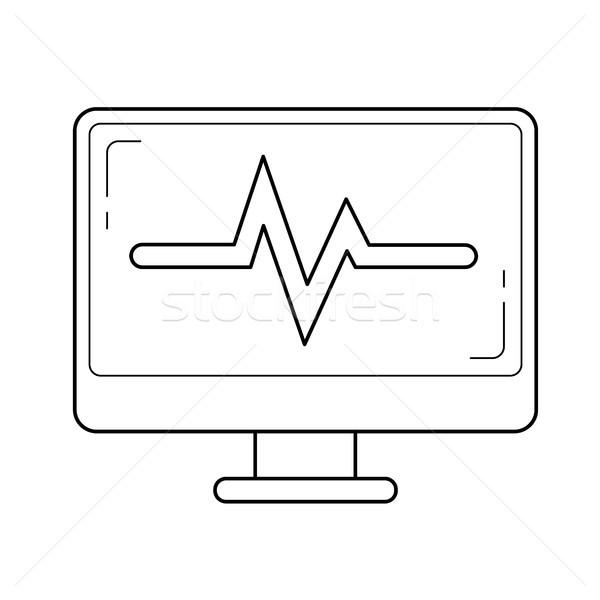 Data analysis line icon. Stock photo © RAStudio