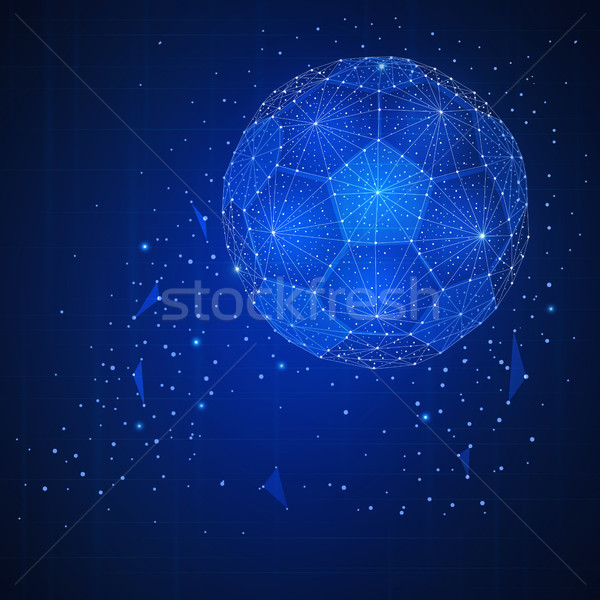 Football ball futuristic hud banner. Stock photo © RAStudio