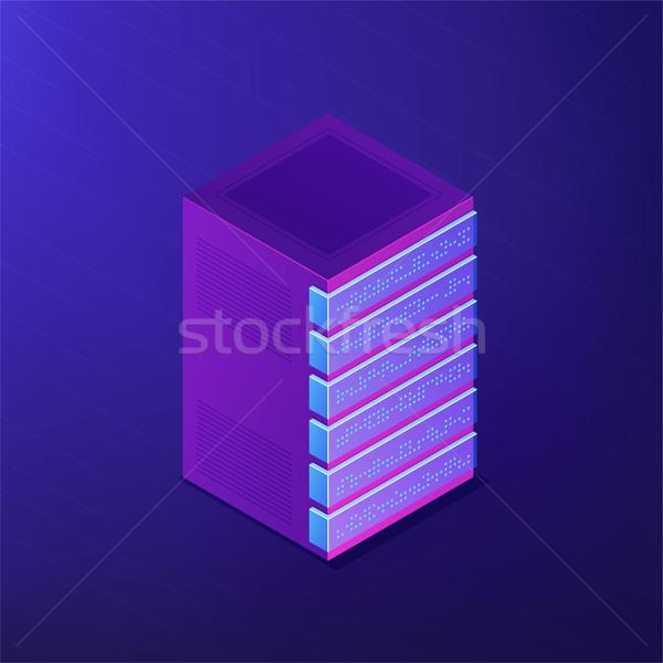 Isometric database and big data concept. Stock photo © RAStudio