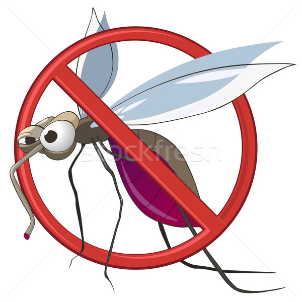 Cartoon STOP Mosquito Stock photo © RAStudio
