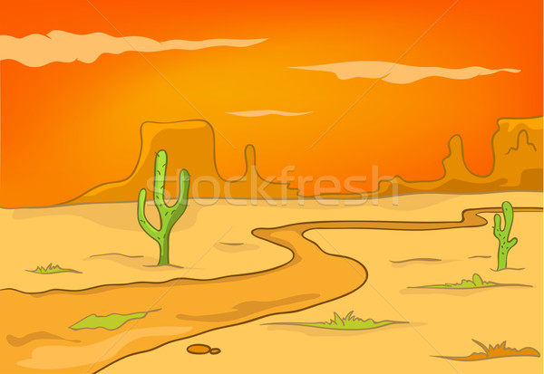 Cartoon Nature Landscape Desert Stock photo © RAStudio