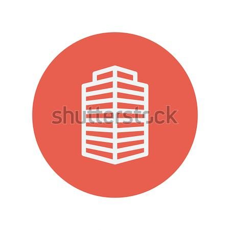 Faible immeuble de bureaux léger ligne icône web Photo stock © RAStudio