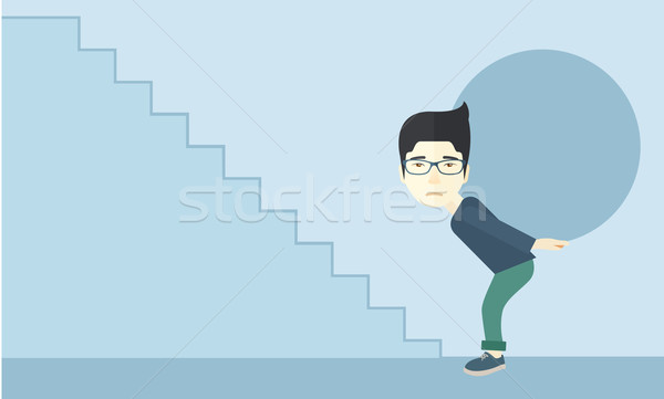 Chinese Businessman needs sacrifices Stock photo © RAStudio